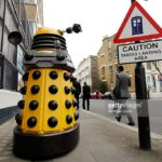 Yellow NPD promoting the Doctor Who Experience
