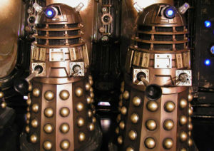 The two new 'Specialist Models' Daleks.