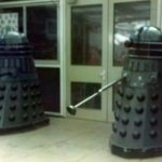 Goon ii (left) and Dalek Seven-iv at Slough Grammar. Picture - Simon Meade