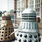 Dalek Six-5 (left) and Dalek One-7 at Slough Grammar. Picture - Simon Meade