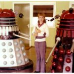 Dalek AARUII 9-11 (left) and Dalek AARUII 12-9 with Ian Scales. Picture - Ian Scales.