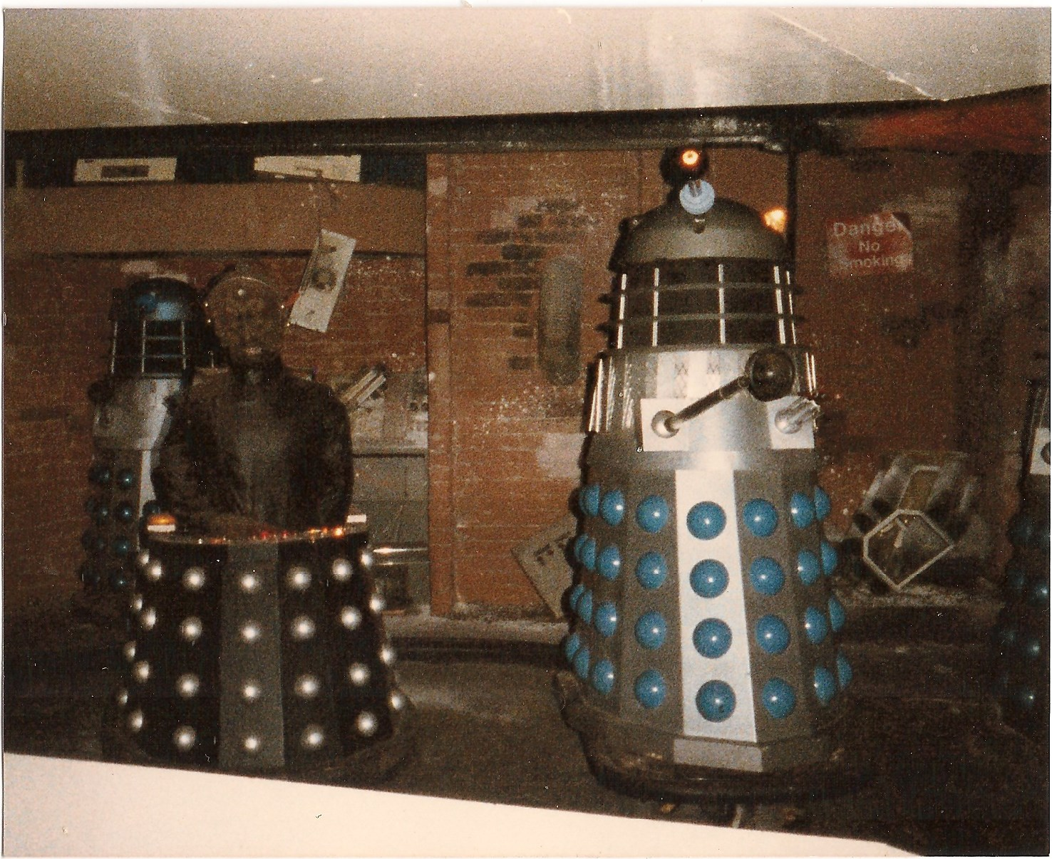 The smaller Dalek set in 1983. Picture - Alan Marshall.