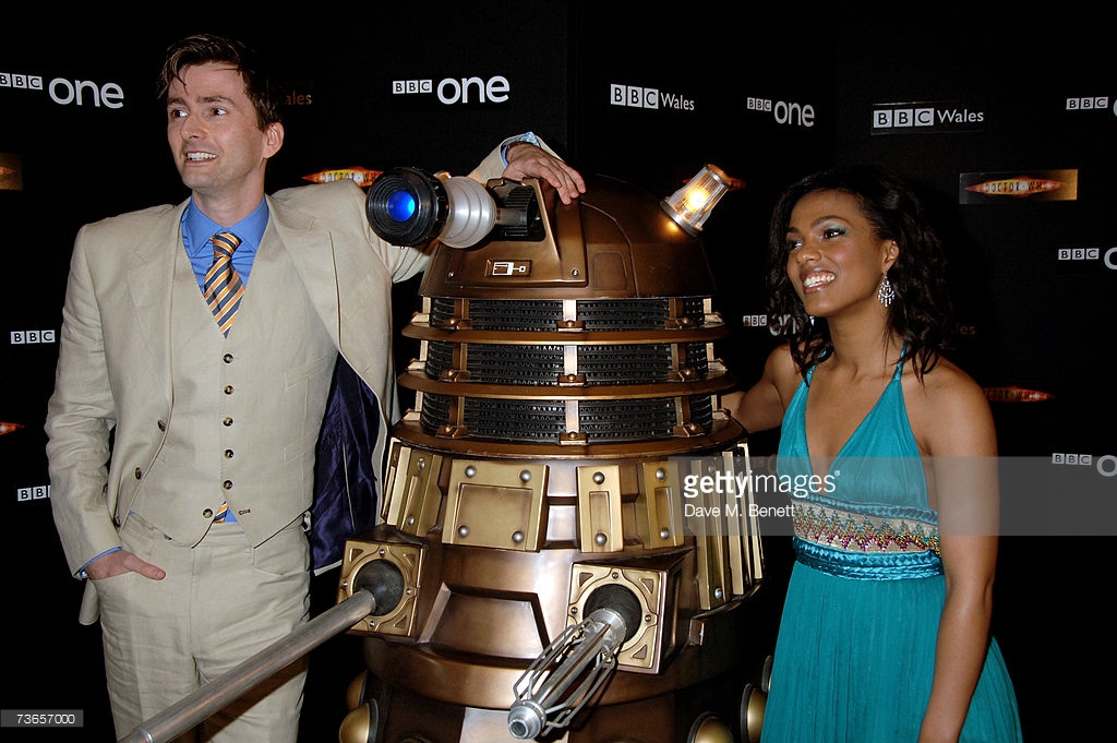 David Tennant and Freema Agyeman with NSD2. Picture - Getty/Dave M. Benett