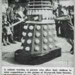 John Streeter receives his Dalek in Brighton.
