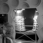 Dalek SM1 and Dalek SM2 in the Middlesbrough display. Picture - Simon Hendy