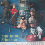 Dalek Six helping to advertise children's clothing in 'Woman's Mirror' in July 1966. Click for a larger view.