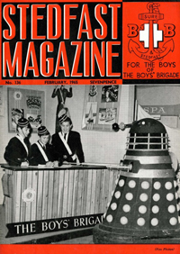Dalek Two appears on the cover of 'Stedfast Magazine' in February 1965
