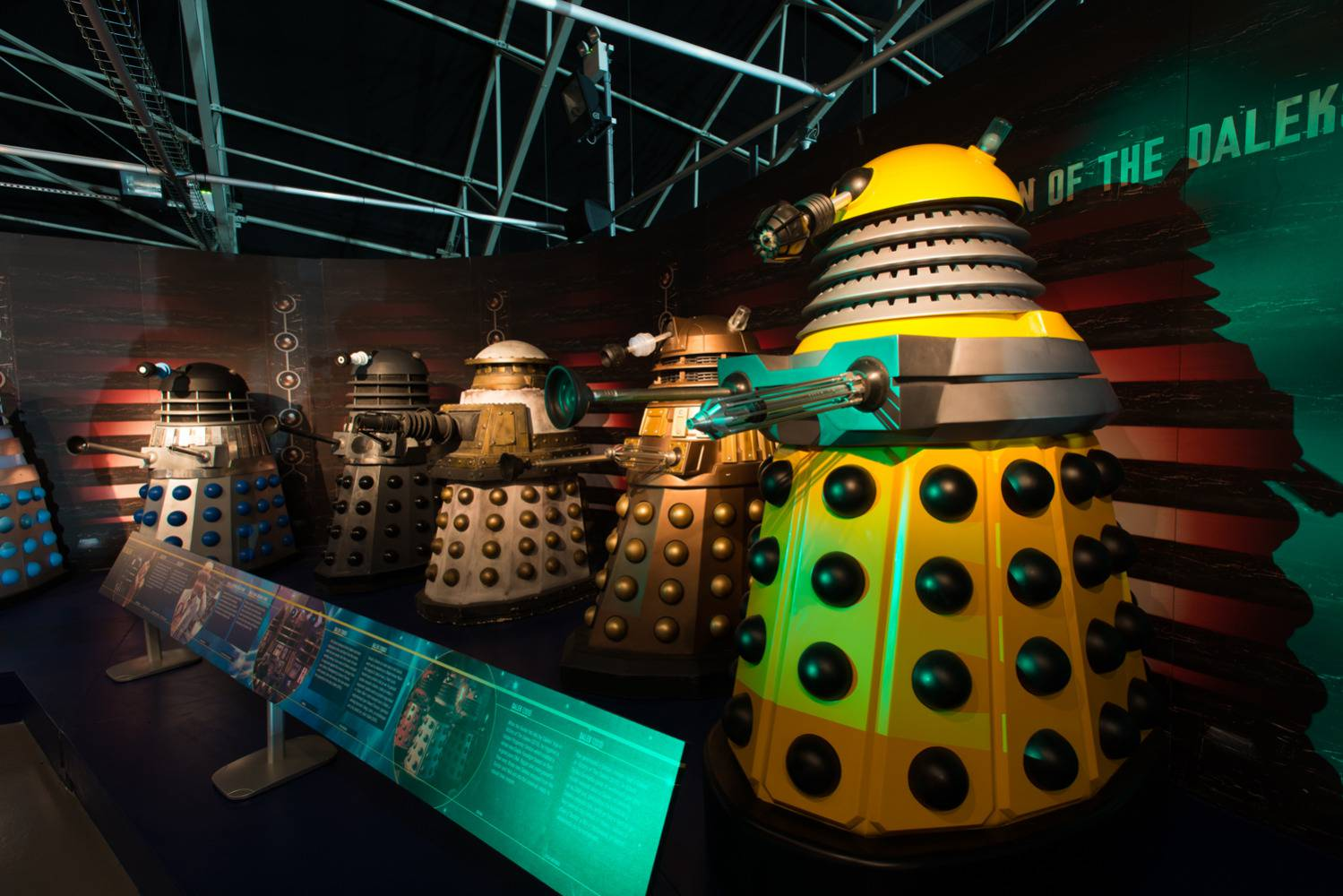 The Dalek line up