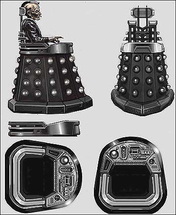 Concept art for Davros by Peter Mckinstry