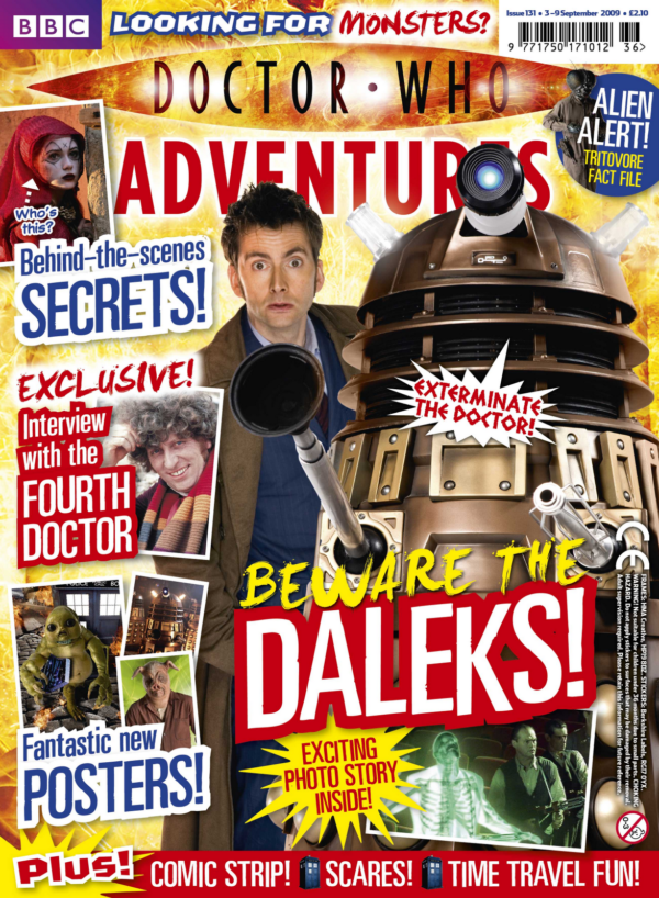 MT1 features on the cover of 'Doctor Who Adventures' magazine