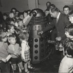 Dalek Six-7 with Bernard Wilkie at Hendon College in 1972.