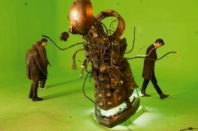 The exploded Dalek