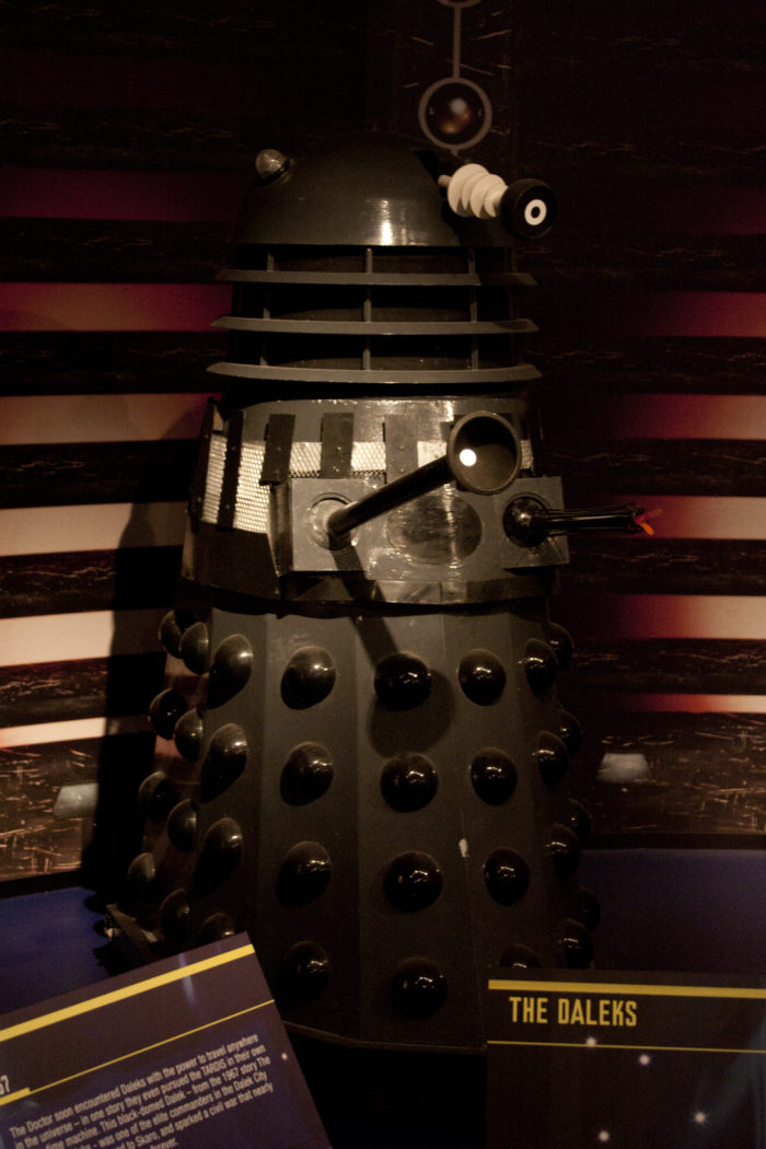 Mark Barton Hill's replica Dalek. Picture - Ben Green