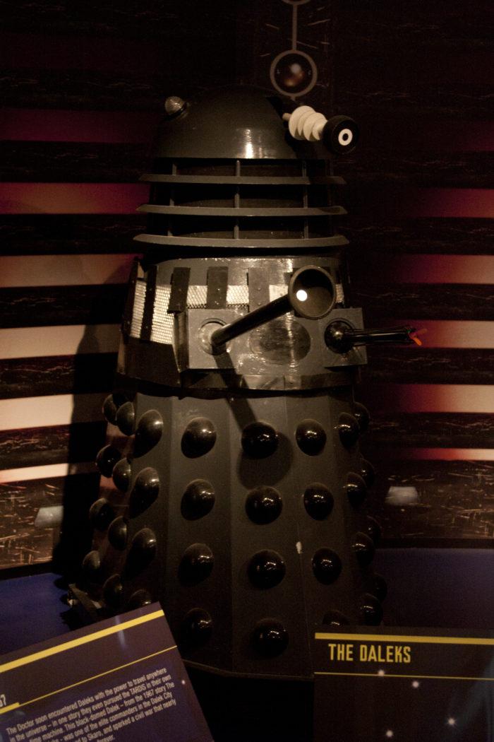 Mark Barton Hill's replica Dalek. Picture - Ben Green