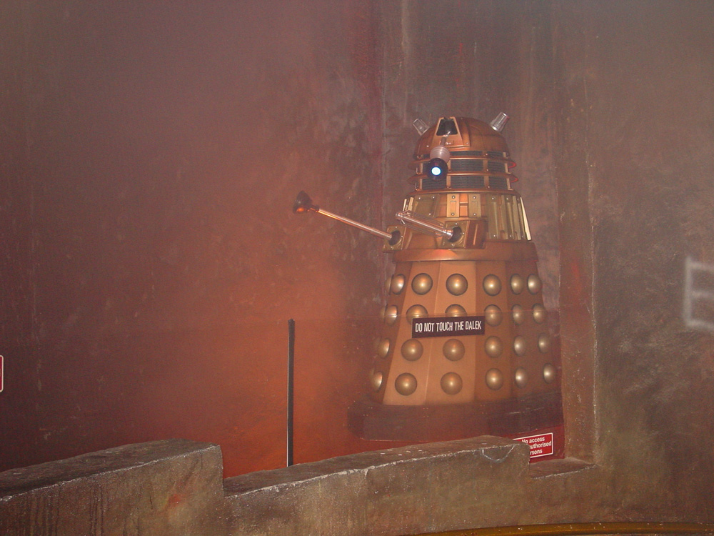 The exhibit at Lands End featured a 'floating' Dalek.