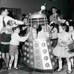 Dalek Six-1 at the National Physical Laboratory kids Christmas party in 1967. Click for a larger view.