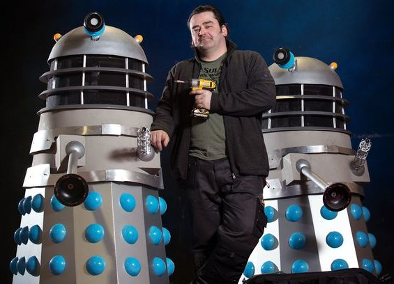 Paul McNamara with his Daleks