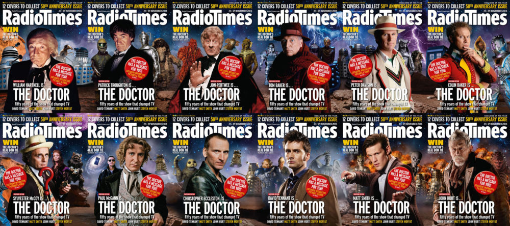 The twelve Radio Times covers