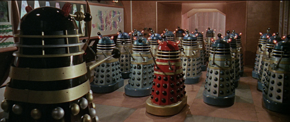 Larger and more colourful movie Daleks