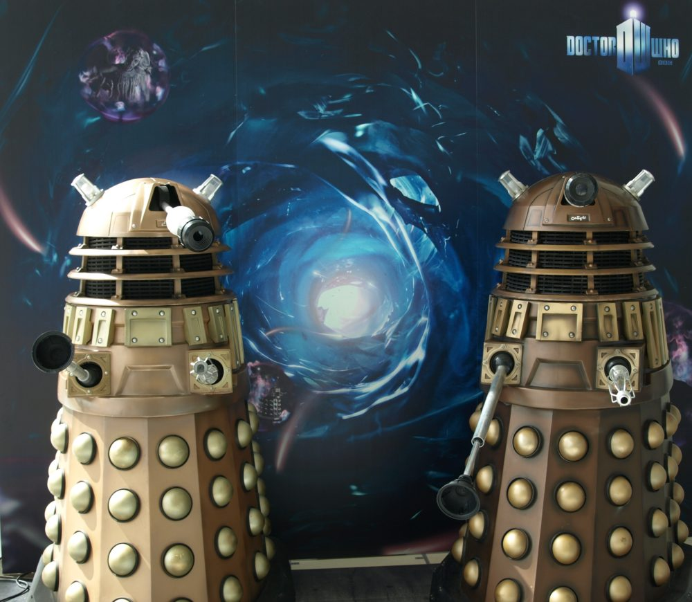 Dalek NSD5 (right) with TPE-TVC at Media City