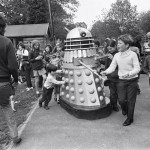 Dalek AARUII 11-9 and Dalek AARUII 12 at Woolhampton Primary School in Berkshire. 22nd May 1972.