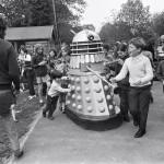 Dalek AARUII 11-9 and Dalek AARUII 12 at Woolhampton Primary School in Berkshire. 22nd May 1972.