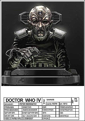 Peter McKinstry's design for Davros