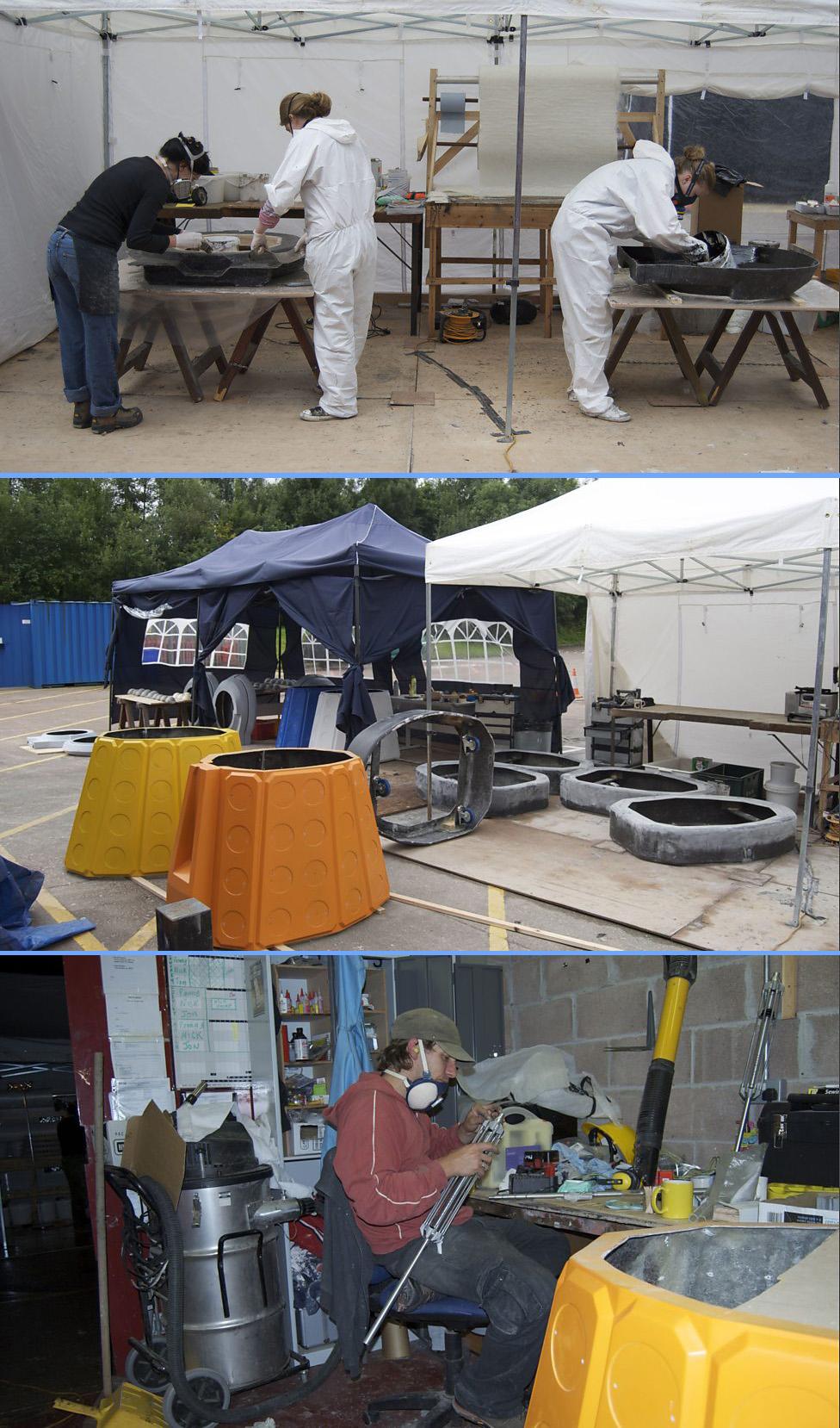 The Daleks under construction