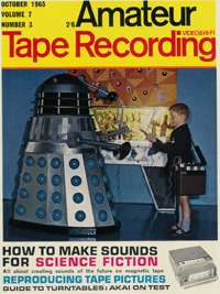 Dalek Six appears on the cover of the October edition of 'Amateur Tape recording'