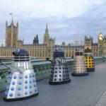 The 'Experience' Daleks recreate a famous scene on Westminster Bridge