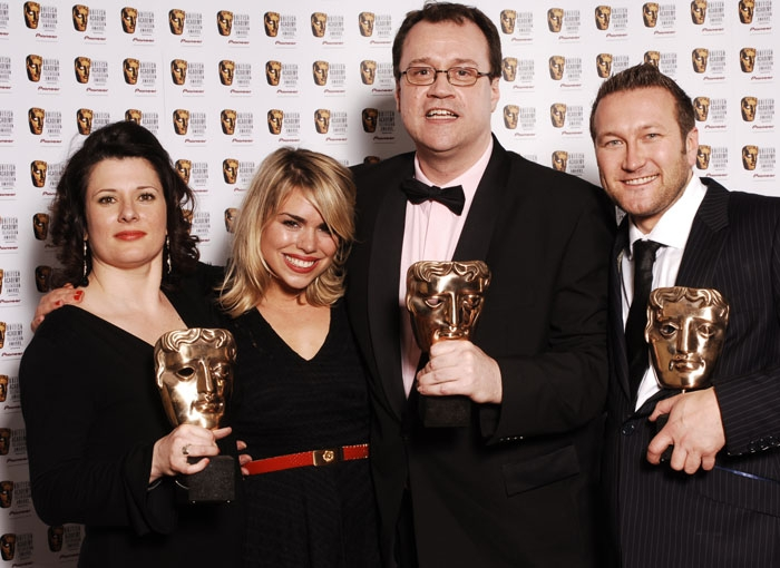 Julie Gardner, Billie Piper, Russell T Davies and Phil Collinson