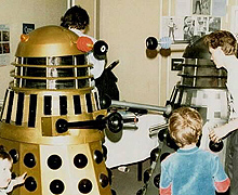 The Surviving Dalek is painted gold in the early 80s.
