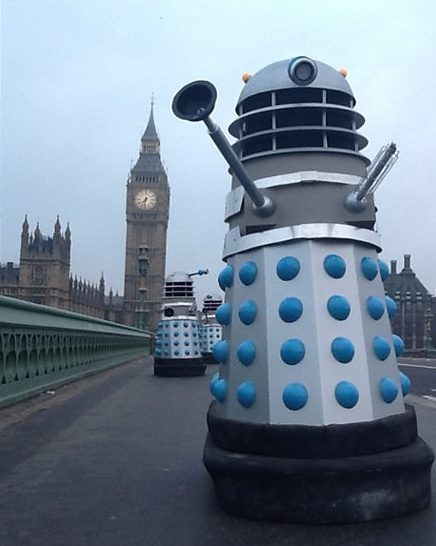 The Daleks on Westminster Bridge