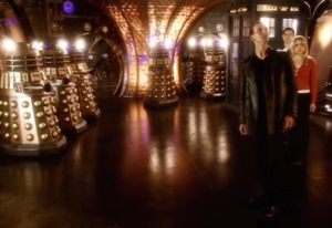 Split-screen increased the number of Daleks.