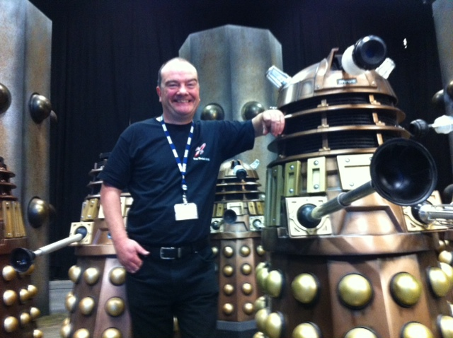 Mike Tucker with his Dalek. Picture - Mike Tucker
