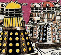 Gerry Haylock's Dalek artwork in 1972
