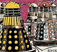 Gerry Haylock's Dalek artwork in 1972