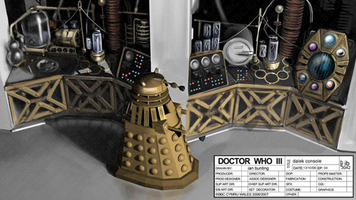 Ian Bunting's design for the Daleks' laboratory.