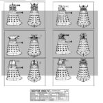 Concept Designs for the Supreme Dalek. Click for a larger view.