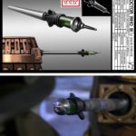 Peter McKinstry's syringe design and how it appeared on screen.