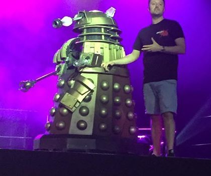 Danny Hargreaves with the 'Into the Dalek' FX prop