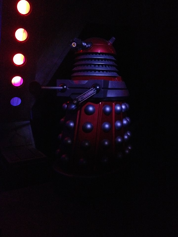 The MillenniumFX props were repainted to resemble the 'Parliament' Daleks. Picture - Bedwr Gullidge.