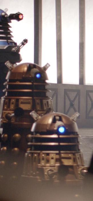 The lefthand column of Daleks is briefly seen