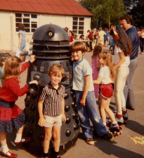 Dalek One-7 visits Latchmere School in the summer of 1983. Picture - Phillip Ayres.