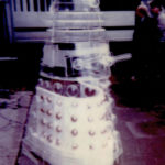 The perspex Dalek prop at Denny's. Photo - Linda Calvert.