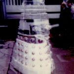 The perspex Dalek prop at Denny's. Photo - Linda Calvert.