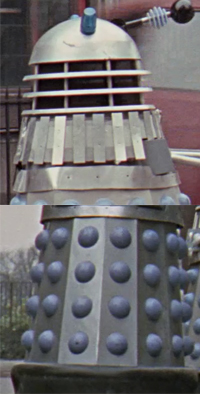 The upper section of Dalek AARUII 14 and the skirt of Dalek AARUII 12