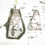 Cusick's initial idea for a trike inside the Dalek