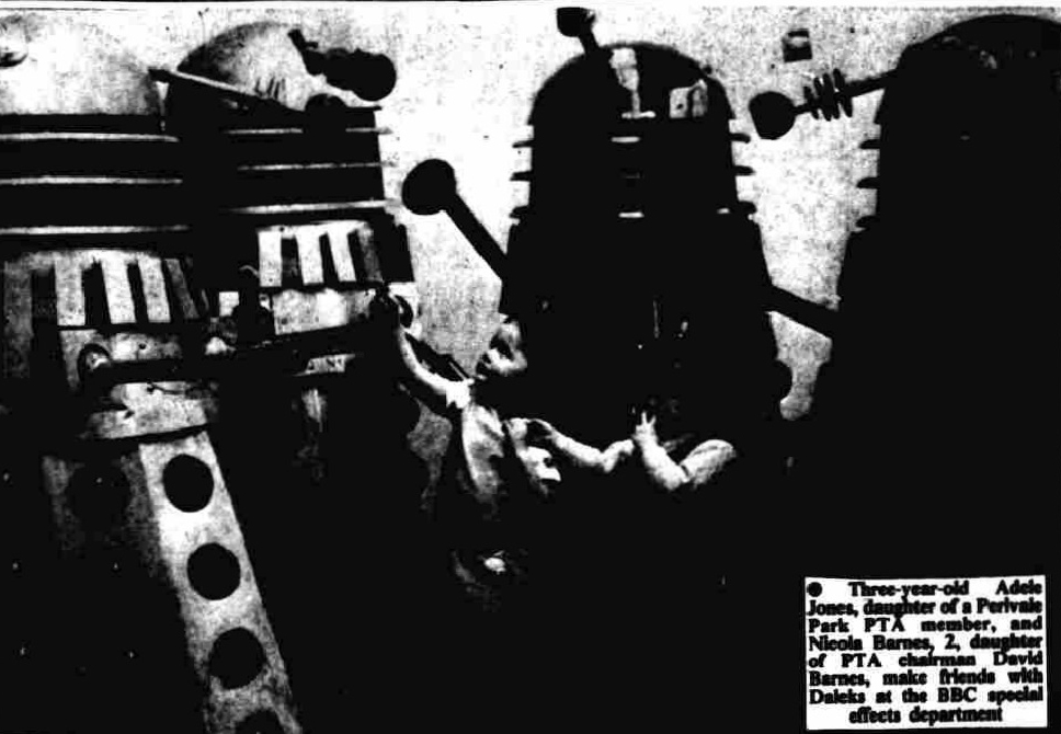 A Dalek is chosen for the Perivale First May Fayre