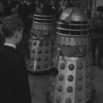 Daleks at the Sophia Gardens Pavilion.